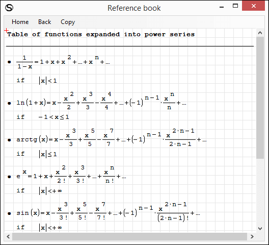 Opened math Reference Book