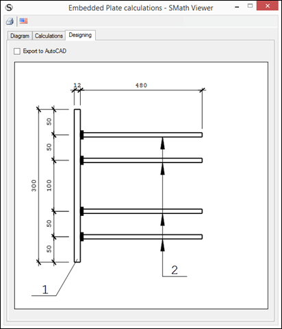 SMath Viewer output to Autocad example